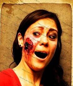 Рана латексная на Хэллоуин