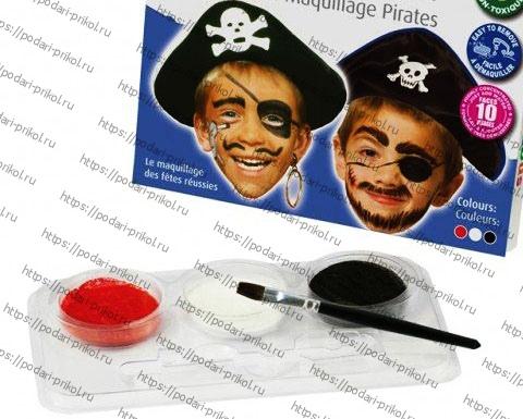 Аквагрим пираты на Хэллоуин